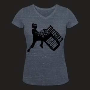 Women's Organic V-Neck T-Shirt by Stanley & Stella - beard,benchpress,bodybuilders,bodybuilding,crossfit,deadlift,gains,gainz,getbig,gym,gymwear,lift,lifting,muscle,powerlifters,powerlifting,squat,steroids,strong,strongman,strongmen,strongwomen,weightlifting