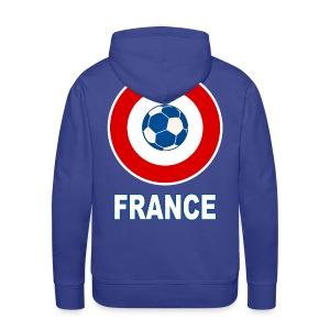 football, cocarde tricolore, couleurs France - Men's Premium Hoodie