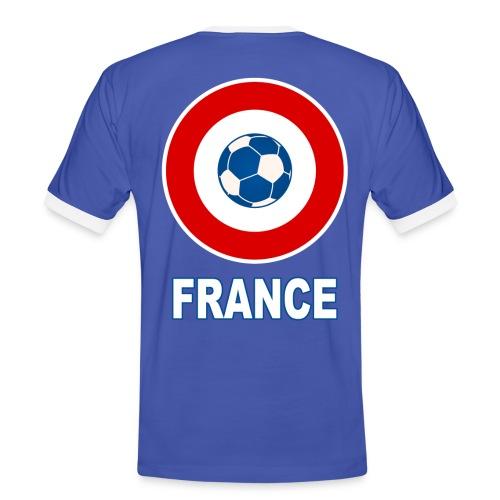 football, cocarde tricolore, couleurs France - Men's Ringer Shirt