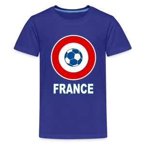 football, cocarde tricolore, couleurs France - Teenage Premium T-Shirt