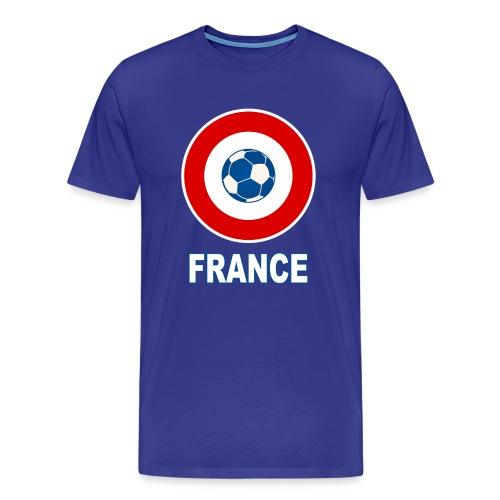 football, cocarde tricolore, couleurs France - Men's Premium T-Shirt