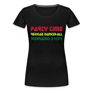 Tshirt Col Rond Women RedGoldGreen - T-shirt Premium Femme