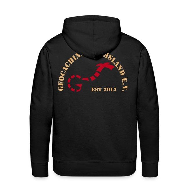 GiE e.V. Logo hinten, Name vorn, Hoodie Männer