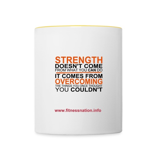 Fitness Nation - Motivation Mug - Contrasting Mug