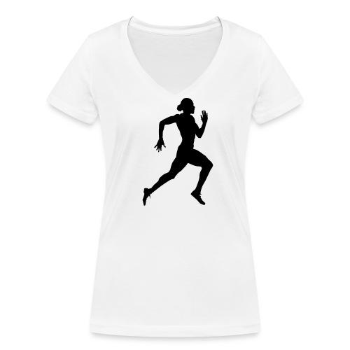 Tee-shirt athlétisme - T-shirt bio col V Stanley & Stella Femme