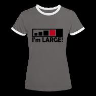 T-Shirts ~ Frauen Kontrast-T-Shirt ~ LARGE Geocacher - Damen