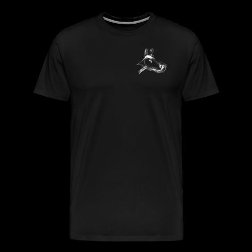 hund weiß - Männer Premium T-Shirt