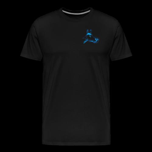 hund blau - Männer Premium T-Shirt