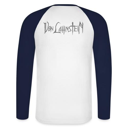Baseballshirt mit Von Lahnstein-Rückendruck - Männer Baseballshirt langarm