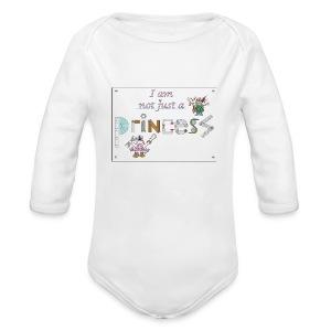 I am not just a princess - Organic Longsleeve Baby Bodysuit