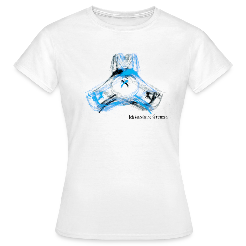 TSHIRT Frau custom hund blau - Frauen T-Shirt