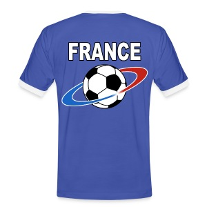 France supporter foot tricolore - Men's Ringer Shirt