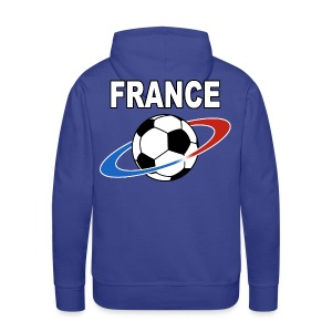 France supporter foot tricolore - Men's Premium Hoodie