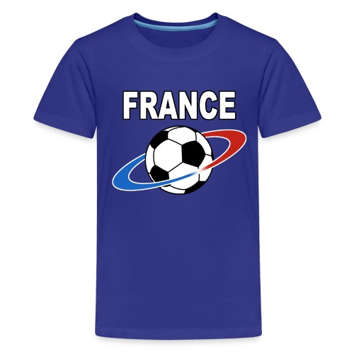 France supporter foot tricolore - Teenage Premium T-Shirt