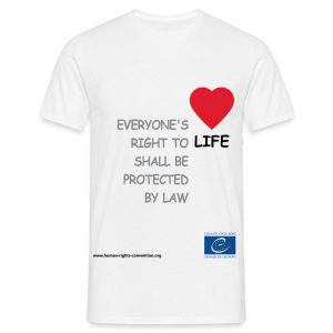 The right to life - Men's T-Shirt