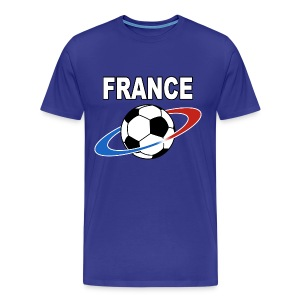 France supporter foot tricolore - Men's Premium T-Shirt