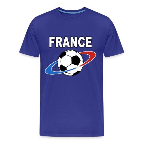 France supporter foot tricolore - Men's Premium T-Shirt
