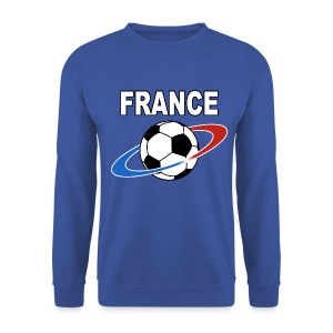 France supporter foot tricolore - Men's Sweatshirt