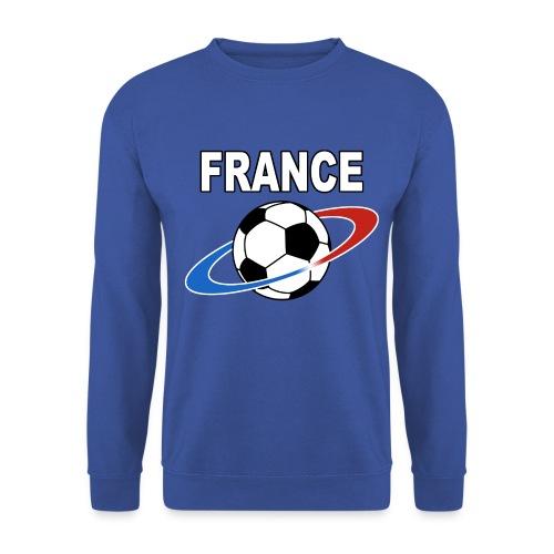 France supporter foot tricolore - Men's Sweatshirt