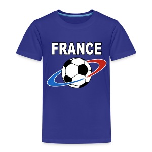 France supporter foot tricolore - Kids' Premium T-Shirt