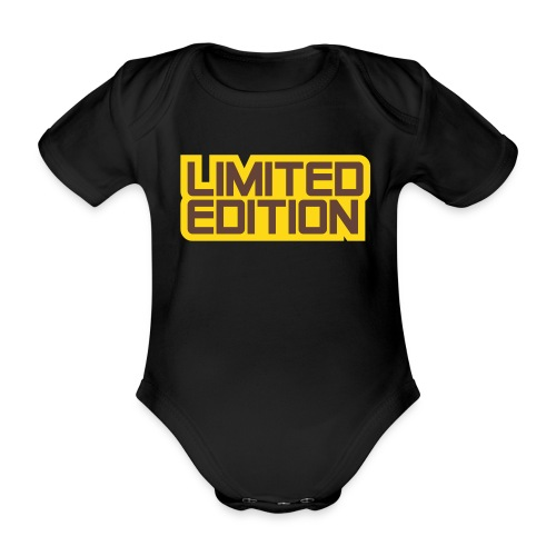 Limited Edition, Baby-Body, schwarz - Baby Bio-Kurzarm-Body