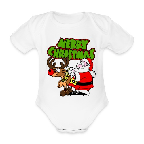 Body bébé merry christmas - Body bébé bio manches courtes