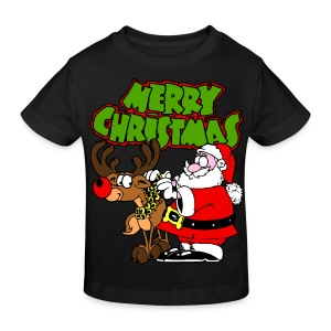 T shirt enfant merry christmas - T-shirt bio Enfant
