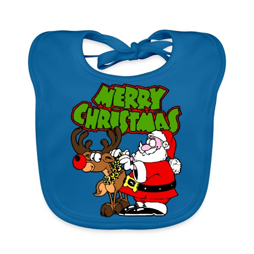 Bavoir bébé merry christmas - Bavoir bio Bébé