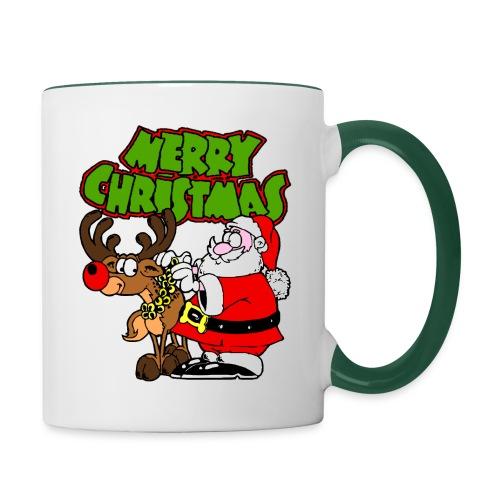 Tasse merry christmas - Mug contrasté