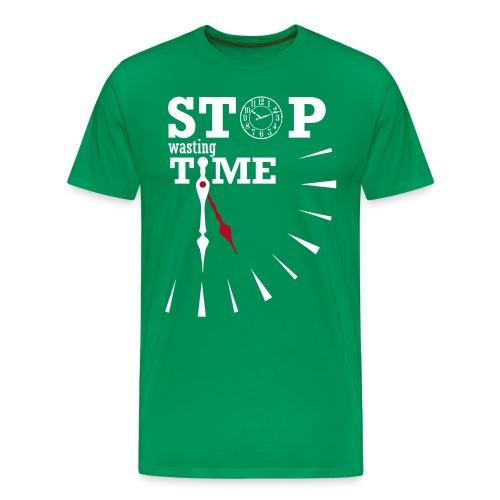 Stop Wasting Time Fit - Maglietta Premium da uomo