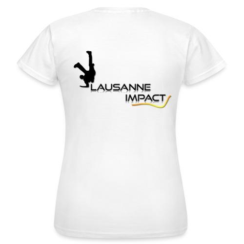 T1.T-shirt femme (logo noir) - T-shirt Femme