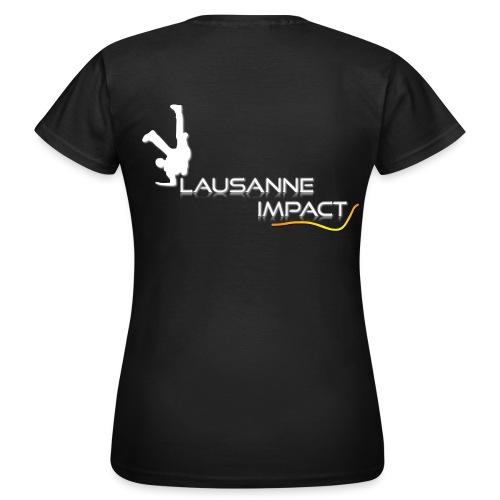 T3. T-shirt femme (logo blanc) - T-shirt Femme