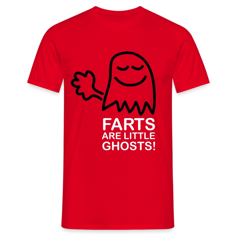Farts are little ghosts...(with text) - Men's T-Shirt