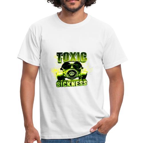 NEW design Toxic Sickness logo on men's white t-shirt - Men's T-Shirt