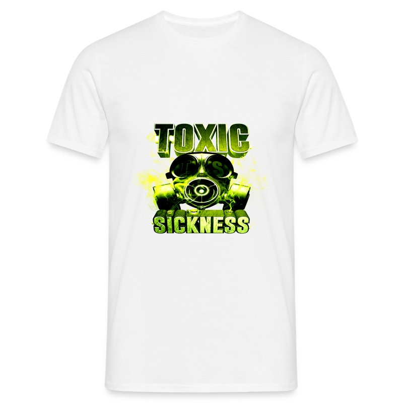 NEW design Toxic Sickness logo on men's white t-shirt - Men's T-Shirt