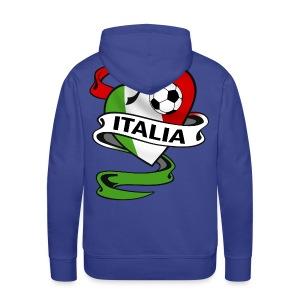 italia sport football - Men's Premium Hoodie