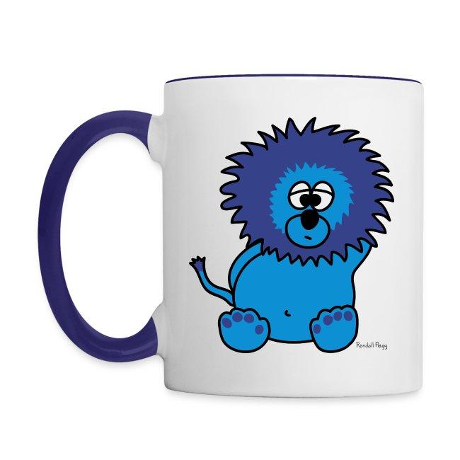 Mug Coloré Litche le Lion Pour Gaucher