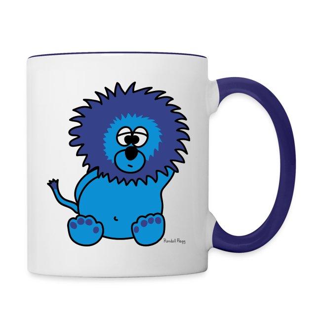 Mug Coloré Litchee le Lion Pour Droitier