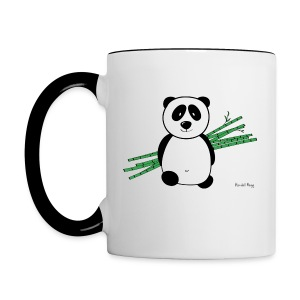 Mug Coloré Lolly le Panda Pour Gaucher - Tasse bicolore