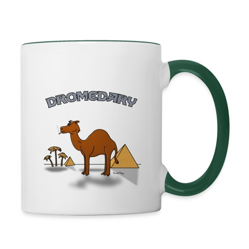 Mug Coloré Joe le Dromadaire Pour Droitier - Mug contrasté
