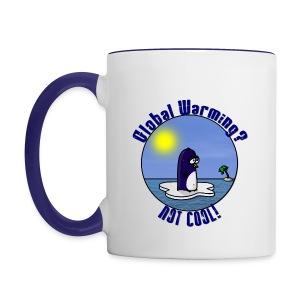 Mug Coloré Waltux le Pingouin Pour Gaucher - Tasse bicolore