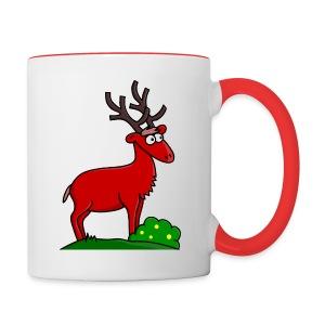 Mug Coloré Takki le Cerf Pour Droitier - Tasse bicolore