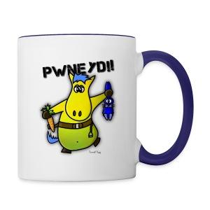 Mug Coloré Sheshamba le Poney Pour Droitier - Mug contrasté