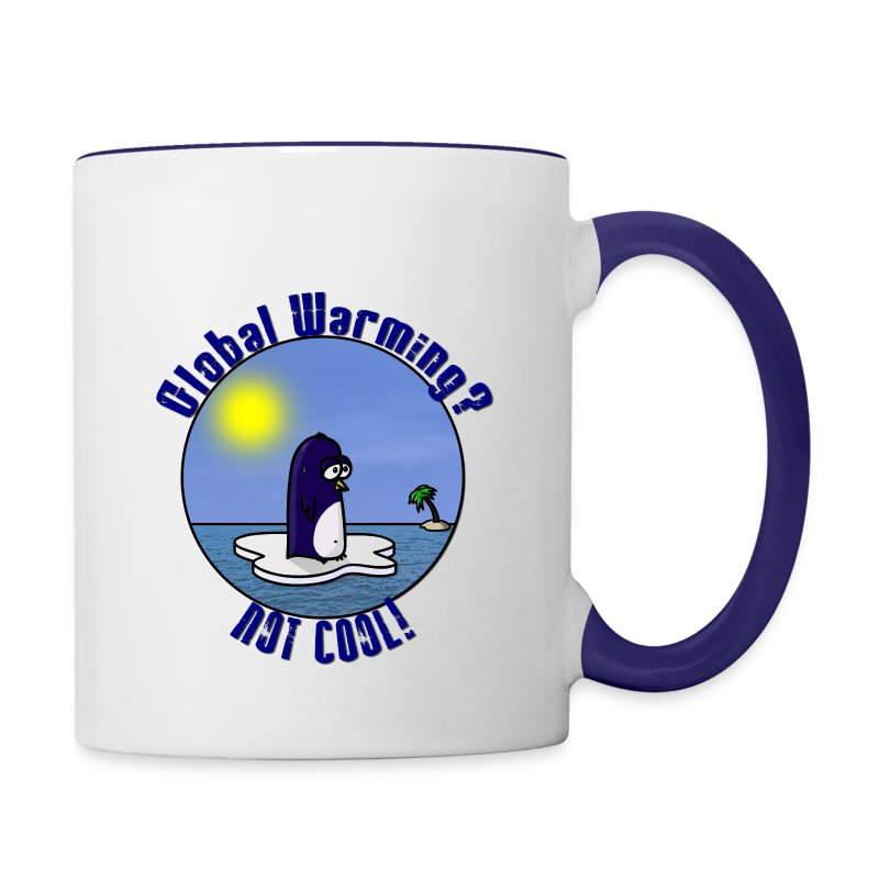 Mug Coloré Waltux le Pingouin Pour Droitier - Tasse bicolore