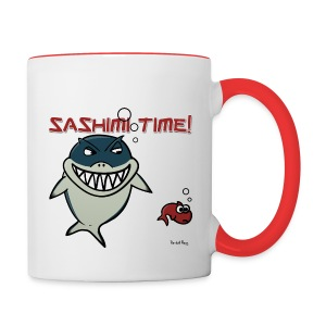 Mug Coloré Nado le Requin Pour Droitier - Tasse bicolore