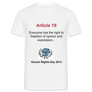 Human Rights Shirt - Article 19 - Men's T-Shirt