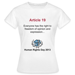 Human Rights Shirt - Article 19 - Women's T-Shirt