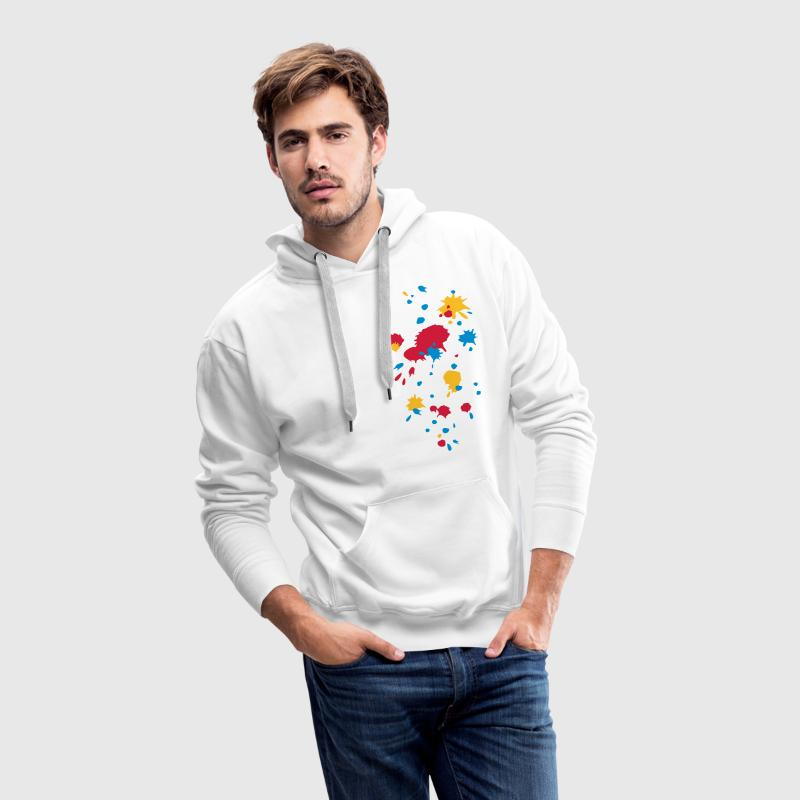 Color splash, paint, artist, ink, spot, grafitti, Hoodies & Sweatshirts - Men's Premium Hoodie