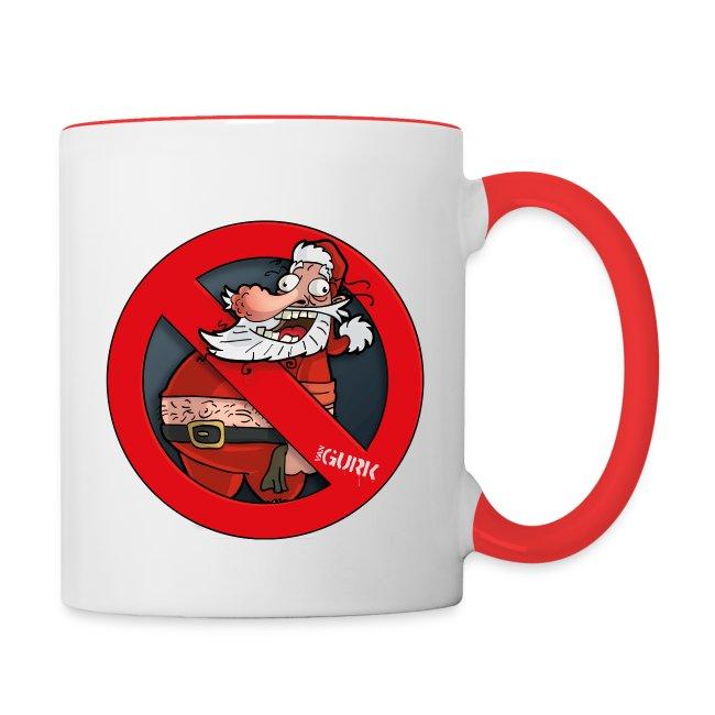 Tasse färbig  2x Santa van gurk