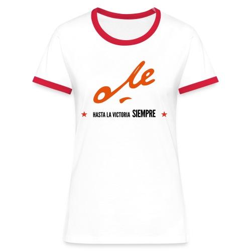 Che Girl3 Red - Camiseta contraste mujer